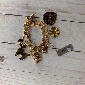 50's golden charm bracelet poodle record cheer